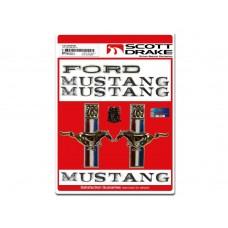 1967 289 Emblem Badge Kit Coupe / Convertible