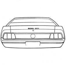 1971 Boss 351 Stripe Kit (Black)