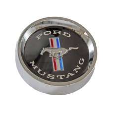 1965 - 1966 Mustang Styled Steel Centre Caps (Black)