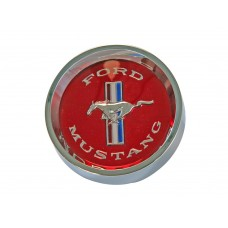 1965 - 1966 Mustang Styled Steel Centre Caps (Red)